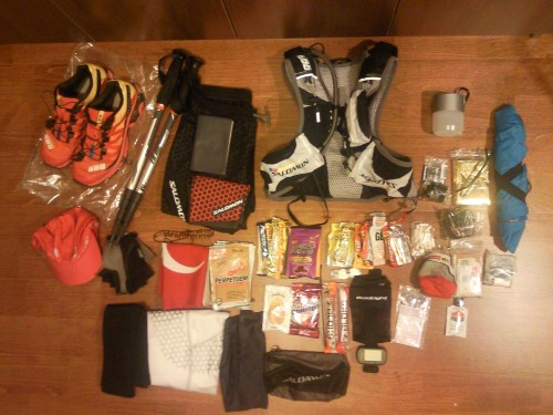 UTMB gear can all go in the pack