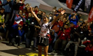 Lizzy taking another UTMB crown - can she make it five this year? (Picture from North Face)