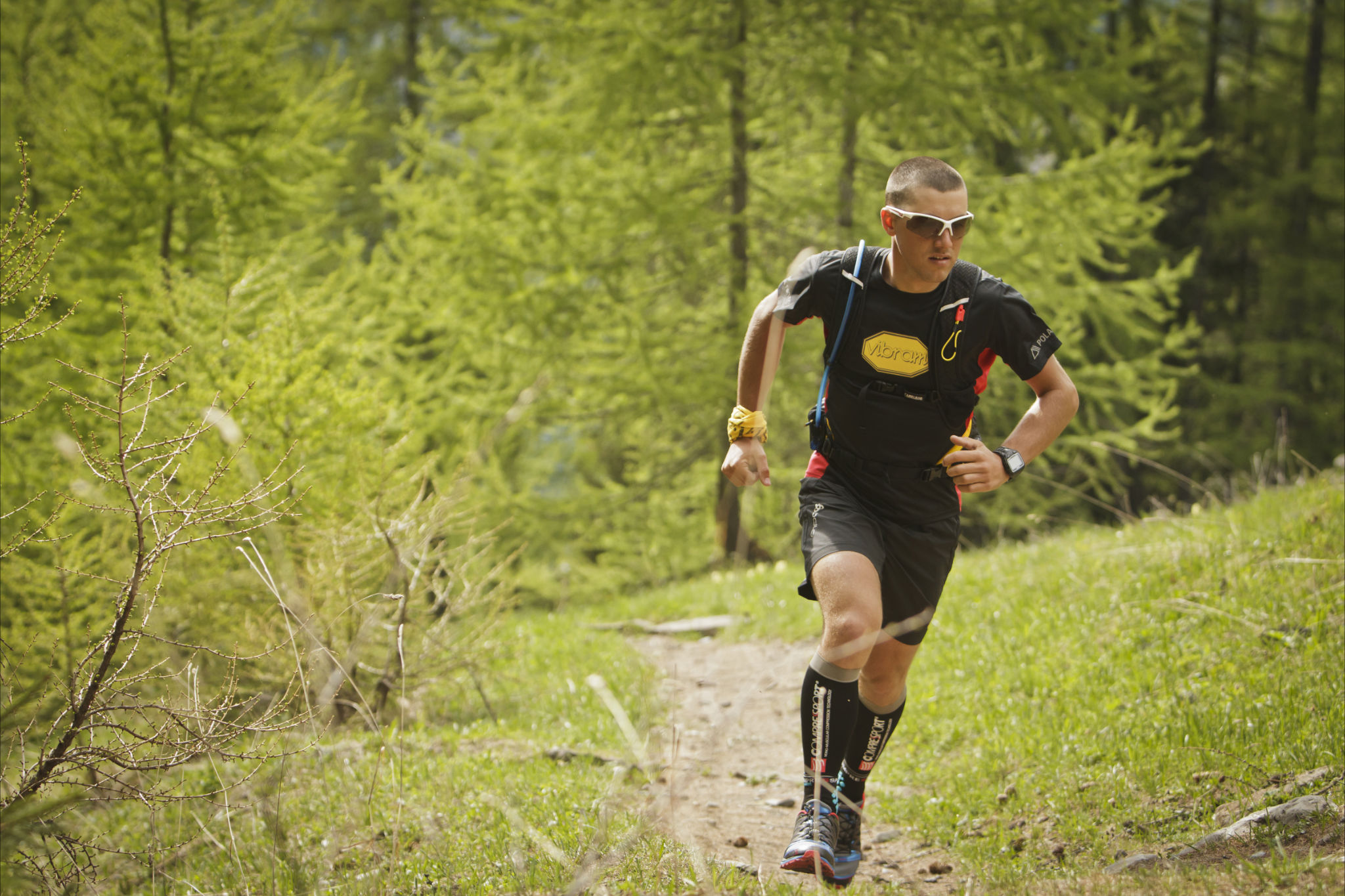 Nicola Bassi in trail action