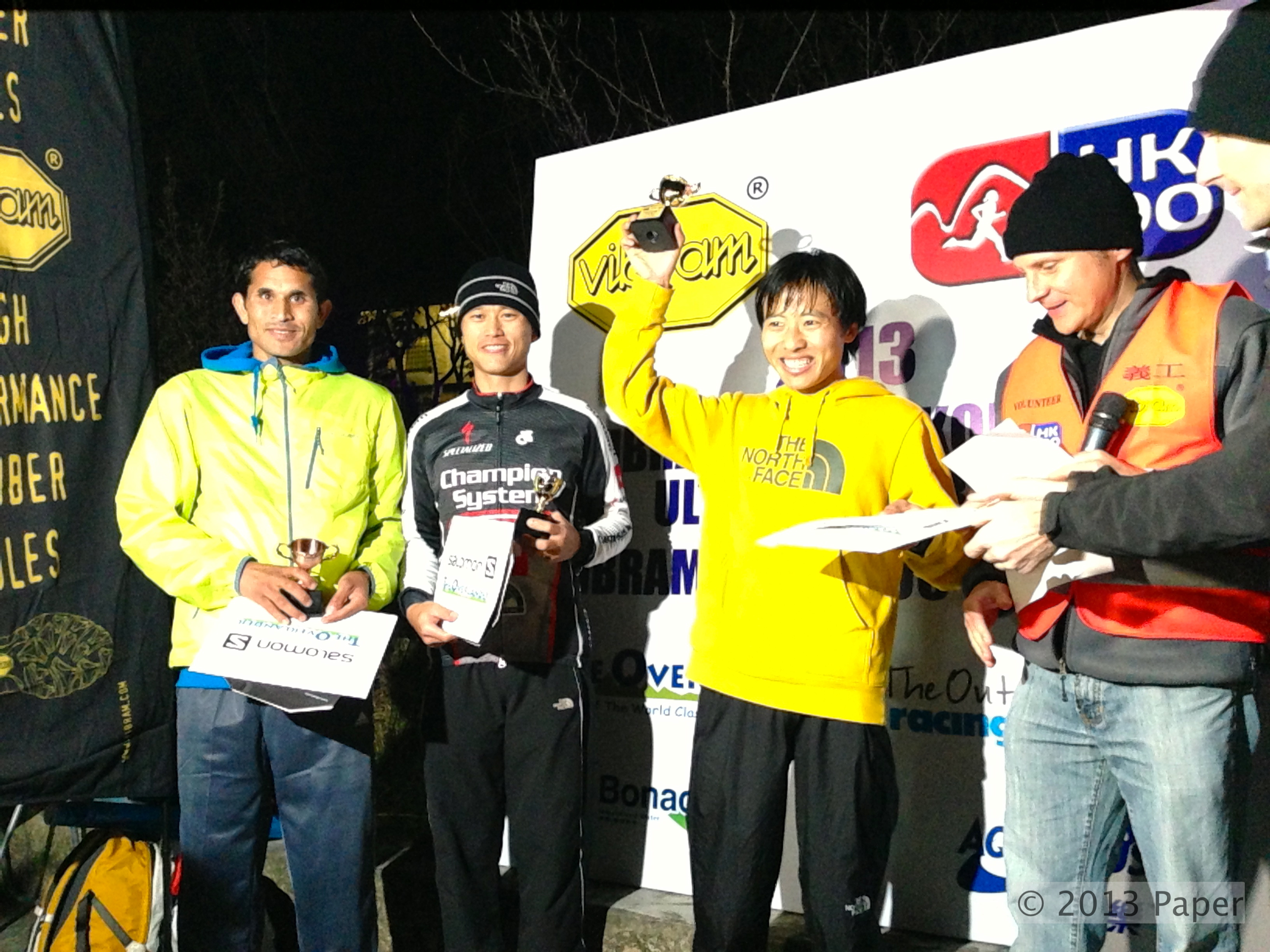 Men's podium (from left): 3rd Ram Kumar Katri, 2nd  Stone Tsang and 1st Yun YanQiao