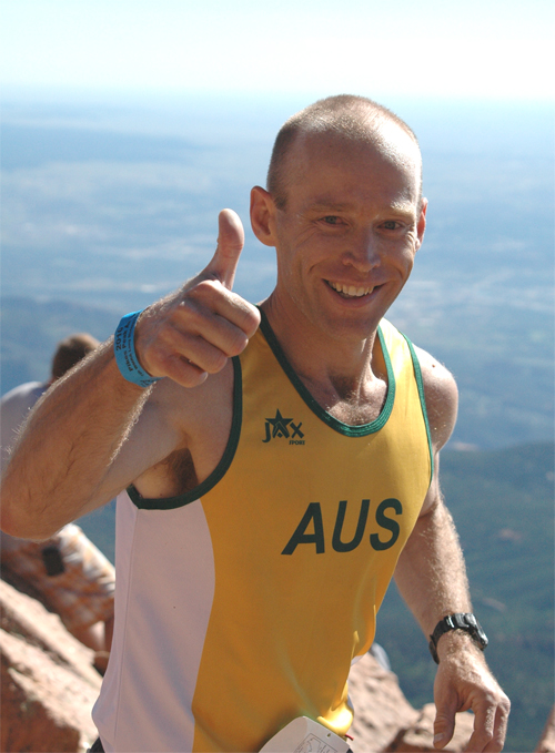 Always smiling - Andy representing Australia