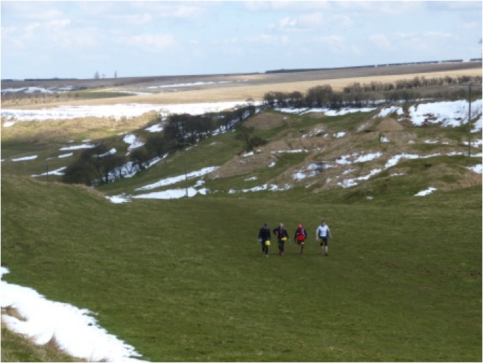 Running through the Lincolnshire Wolds. Photo courtesy of Richard Gordon