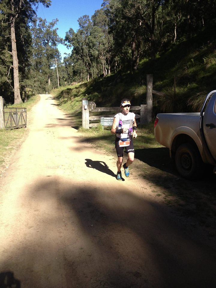 In full flight at 47kms - Brendan asked 'what if?' yesterday