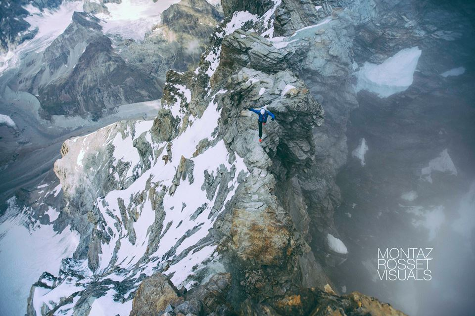 Kilian training atop of Matterhorn on one of the eight attempts made over the last 2 weeks