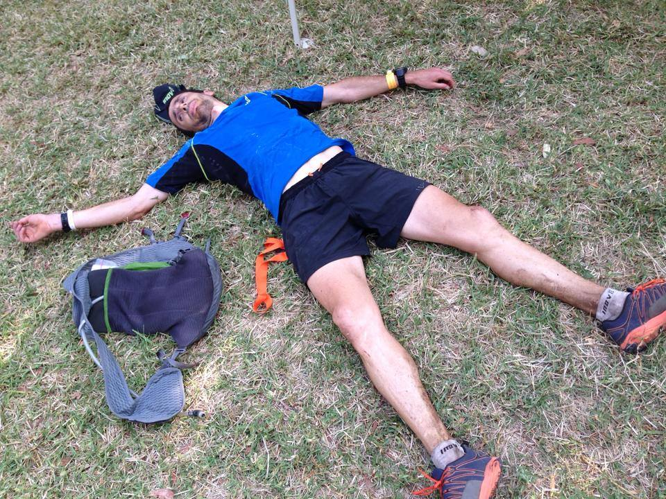 Il fait tres chaud!  The words of Frenchman Pierre Viguier, who won the GNW 100kms in a very good time of 11hrs 25mins, despite the heat.
