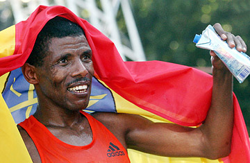 It was reported that Haile lost almost 10% of his body weight during his world record run