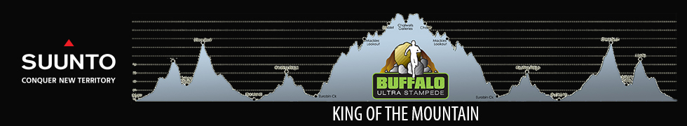 The Buffalo Stampede course profile - 4,500m of climbing across the 75km ultra and 2,900 in the 42km marathon