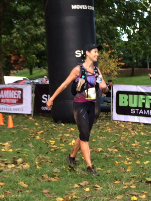 Susan Keith finishing second at the Buffalo Stampede a few years ago