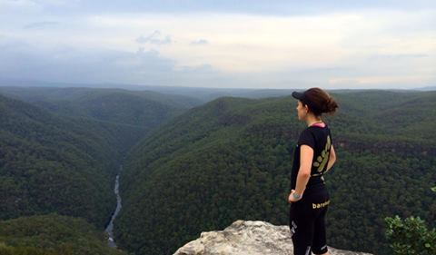 Jo overlooking the magical Blue Mountains National Park