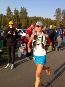 Tina Lewis at her 2012 Leadville 100 miler win (copyright Byron Powell, irunfar)