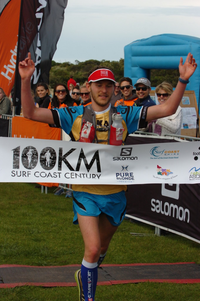 Ben winning the SCC100kms back in 2013