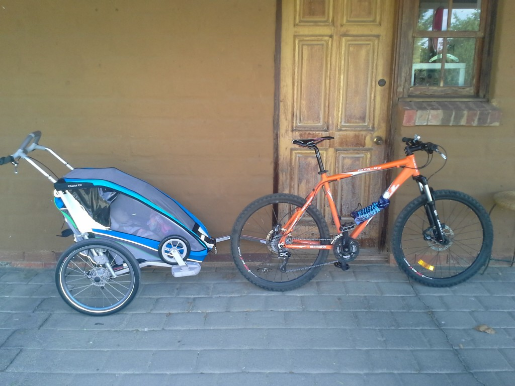 The Thule Chariot CX1 in bike mode