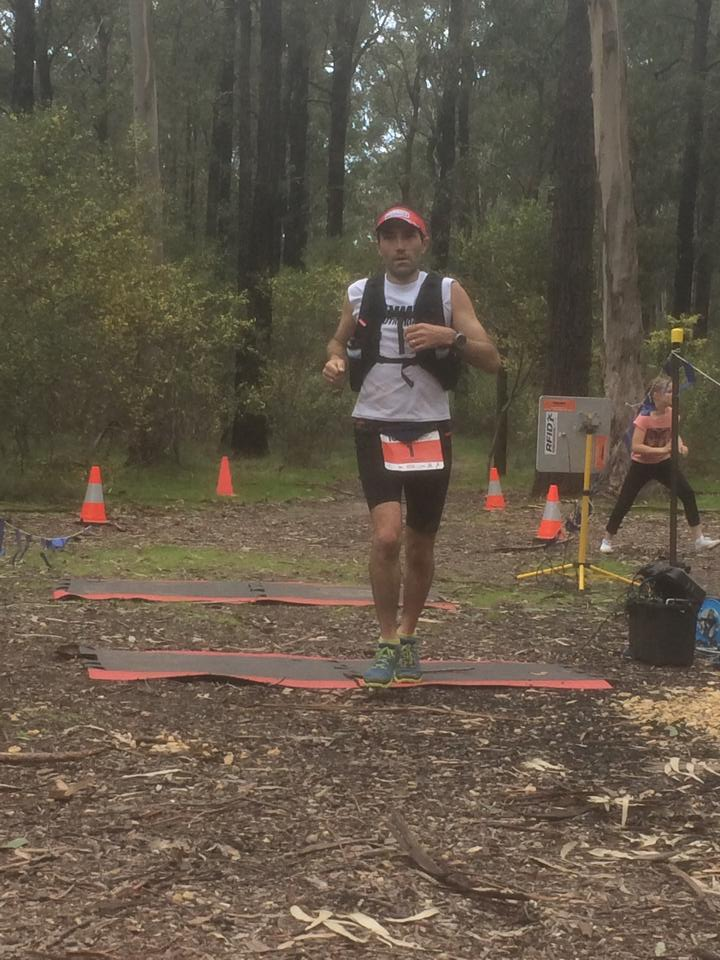 Brendan Davies at the Surf Coast Century looking for some more cookies!