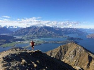 This is the view that awaits runners as they approach the peak at Mount Roy just outside of Wanaka... stunning
