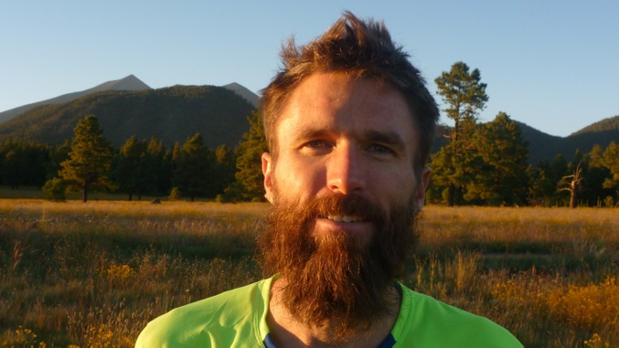 This dude is the only guy allowed to have a beard in ultra running (credit The North Face)