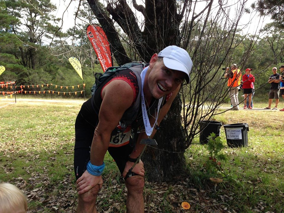 Jono won the Mount Solitary ultra a few weekends ago, closely beating  Mark Green