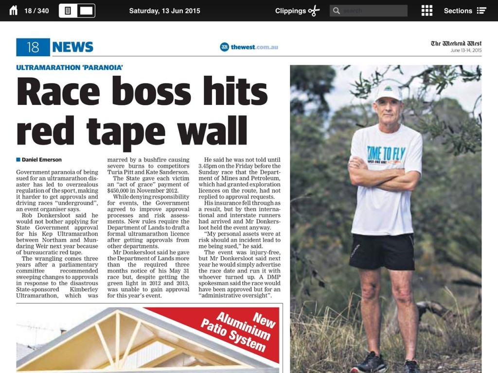 A somewhat 'pissed off' Ron Donkersloot - as a collective group, trail and ultra running in Australia needs to define our own standards, or they will be defined for us