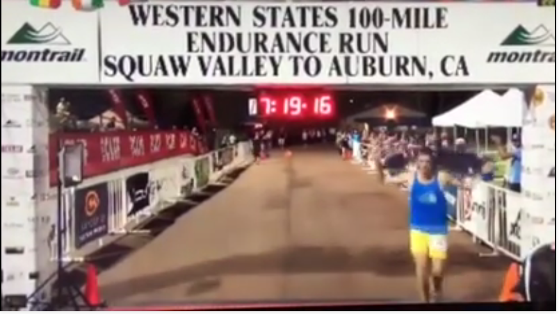 Tucks at the finish line of WSER100