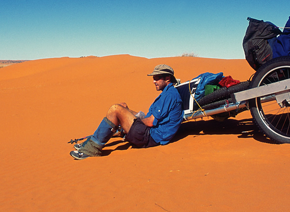 Lucas on his self-supported Simpson Desert crossing