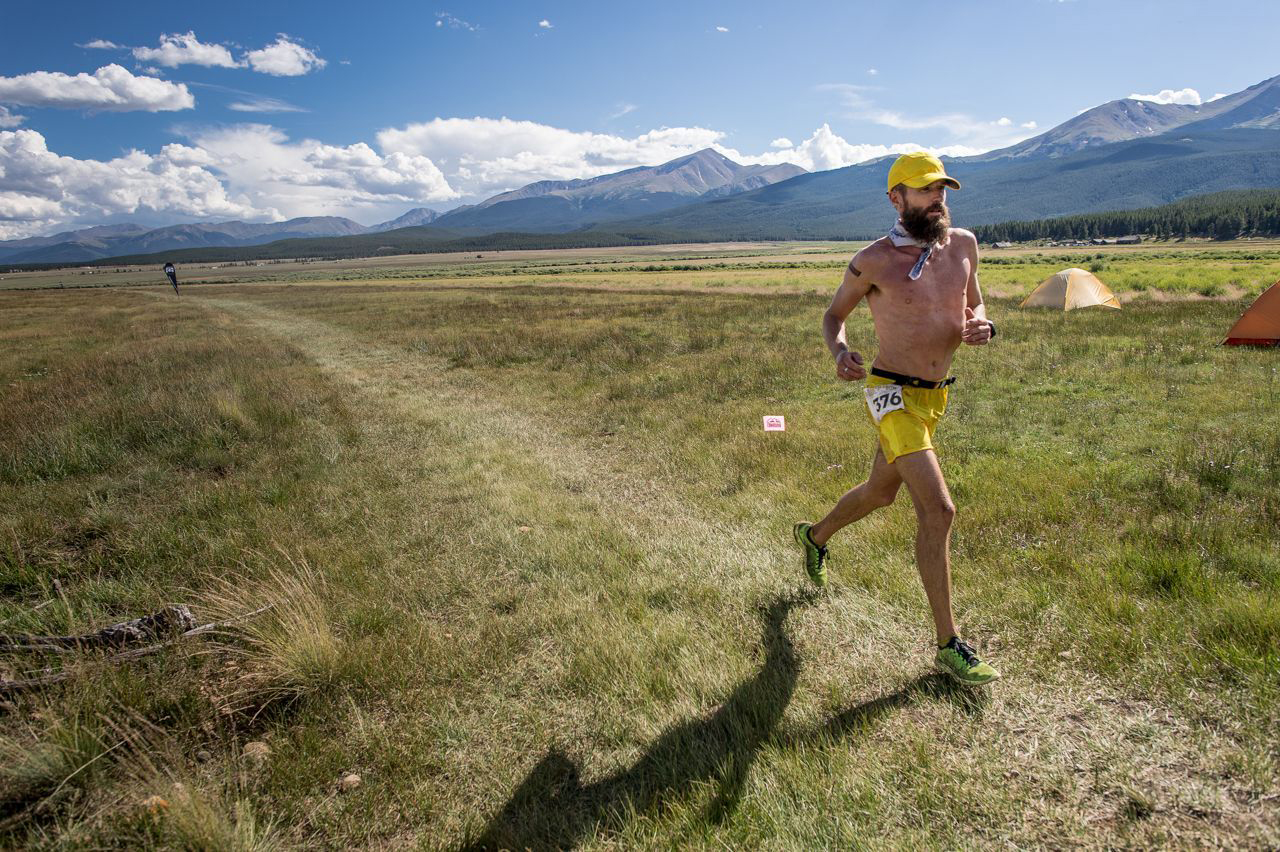 Rob at the Leadville 100