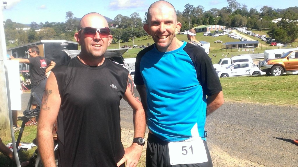 Mick with good mate and Badwater crew member, Shaun Mulholland