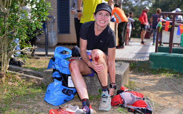 Marie at the HK100 in 2015 (Picture from Gonerunning.hk)