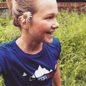 Lucy Bartholomew wearing the standard Ultra168 running shirt