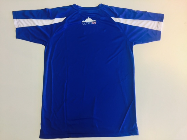 The new premium ultra168 running shirt with logo on the upper back