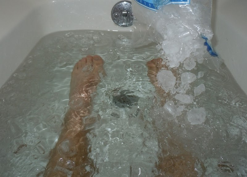 The jury is out as to whether ice baths have any substantial gains, but it can't harm, right?